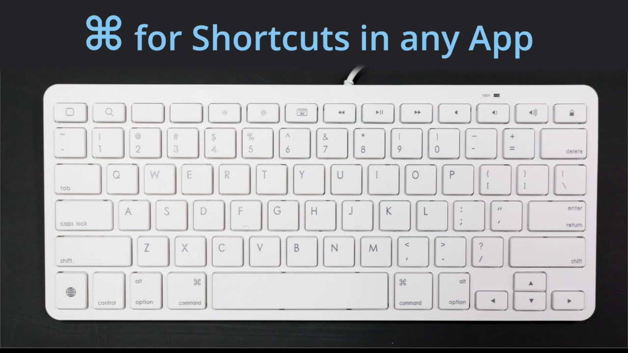 ios keyboard shortcuts withipad wired keyboard with 8 pin lightning or 30 pin connector youtube. Black Bedroom Furniture Sets. Home Design Ideas