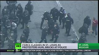 Anti-police brutality protests in the US city of St. Louis have eru...