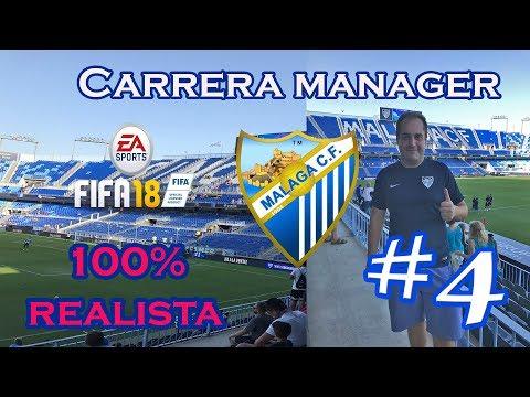PARTIDOS ÉPICOS DE ESTE MÁLAGA CF  | FIFA 18 CARRERA MANAGER REALISTA MALAGA CF #4