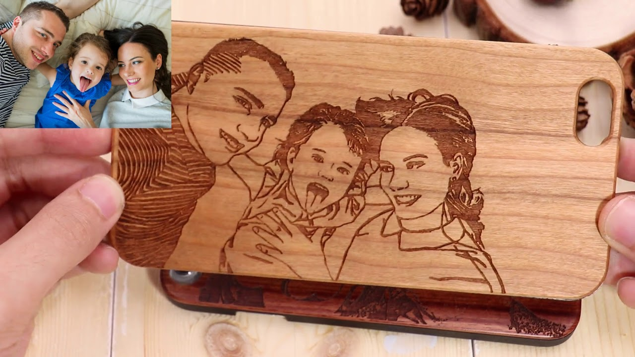 personalized wooden phone case back engraving rosewood youtube