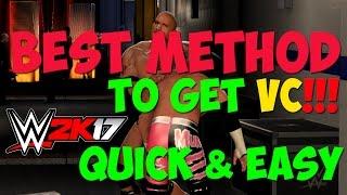 wwe 2k17 tutorial fastest easiest way to earn get vc in the game best method