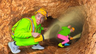 ESCAPE ROOM HATCH leads to UNDERGROUND TUNNEL in BACKYARD!!