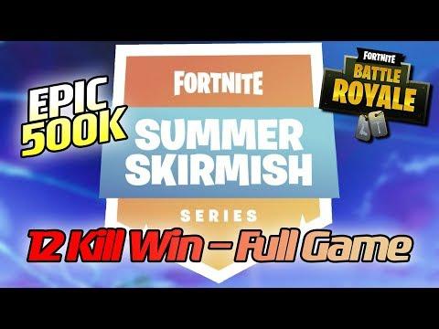 500K Epic Summer Skirmish 12 KILL WIN - Loeya playing Fortnite Battle Royale