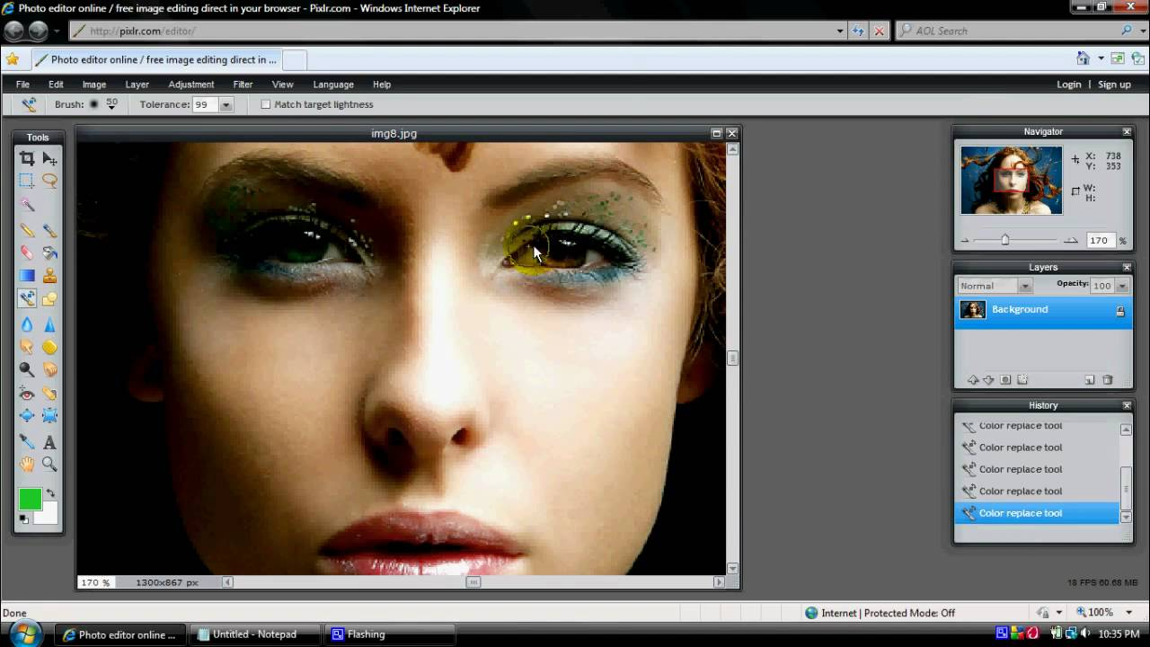 How to change eye color for free WITHOUT Photoshop  YouTube