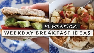 Find all the breakfast details here: http://byerinelizabeth.co/weekday-breakfast-ideas/ easy vegetarian ideas from monday through friday today i'm ...