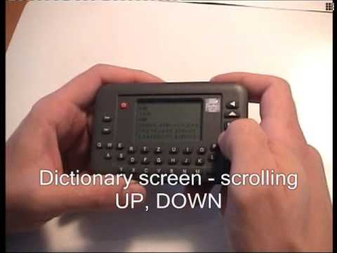 Portable pocket electronic dictionary Portos