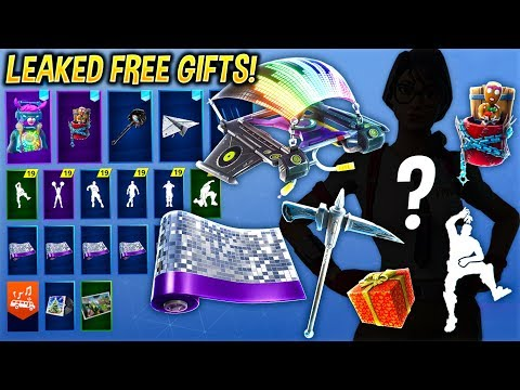 *NEW* ALL LEAKED 14 DAYS  OF FORTNITE GIFTS & CHALLENGES..! (Take The Elf, Wrap, Glider, Pickaxe...)