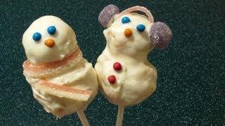 Christmas Treats: Rice Krispies Snowmen Pops