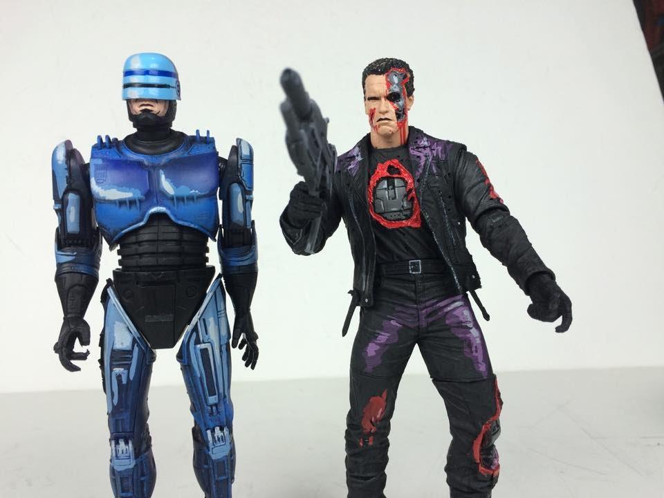 Neca Robocop VS. Terminator: Flamethrower Robocop, Plasma ...
