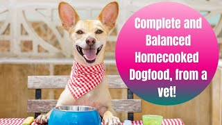 Complete and balanced home-cooked dog food from a vet! Easy instant pot homemade dog food- W/ PDF