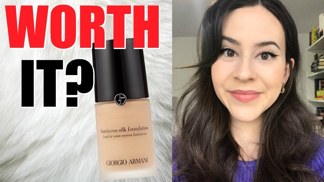 Giorgio Armani Luminous Silk Foundation Review Testing Best Selling Foundations At Sephora Series Youtube