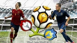 Spain V France Euro 2012 Quarter Final 23/06/2012 (Predictor Highlights)