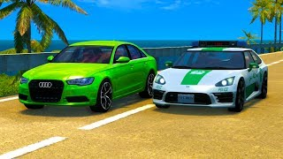 REALISTIC POLICE CHASES #1 (w. Sound Effects) - BeamNG drive