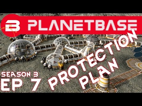 PlanetBase - Meteor Protection Plan - S03E07 (Space Survival Strategy Gameplay)