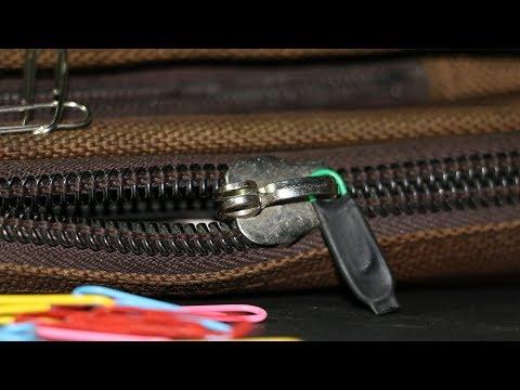 how-to-fix-broken-zipper-on-bag-|-paper-clip-hack.