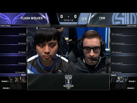 FW vs TSM | 2017 World Championship | Group Stage Day 2 | Flash Wolves vs Team SoloMid