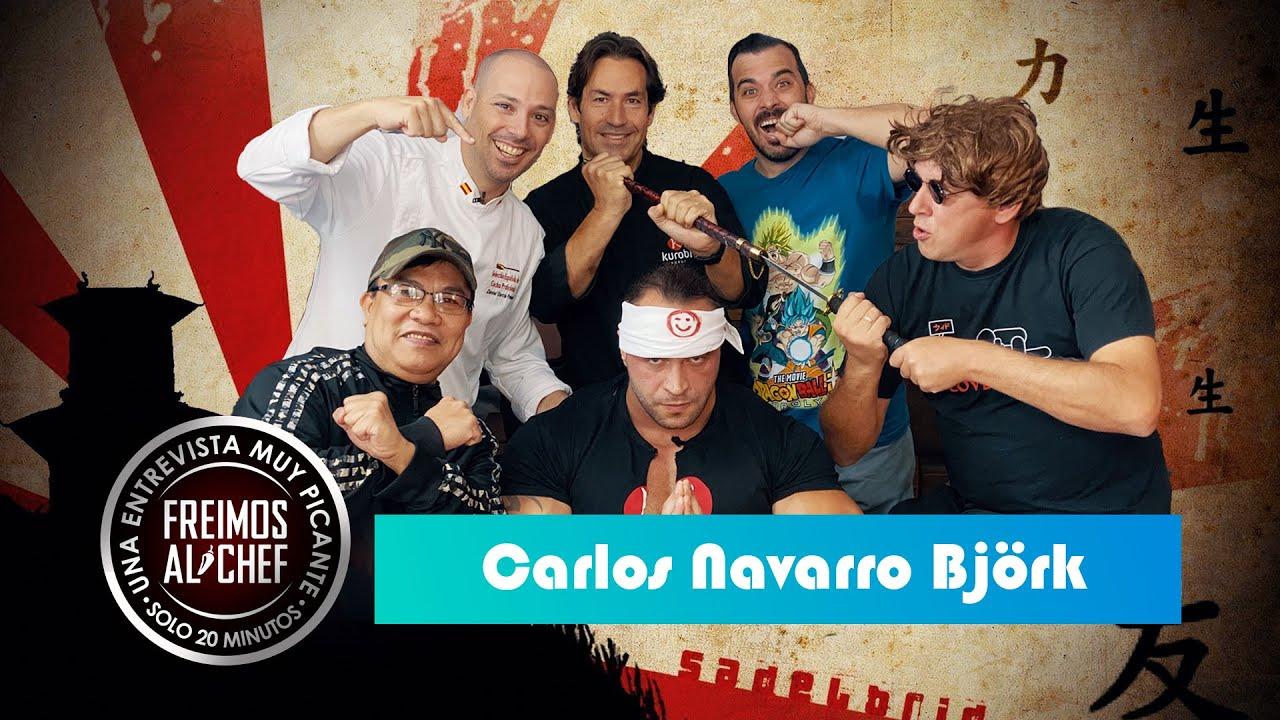 Freimos Al Chef - Entrevista con Carlos Navarro Björk. Receta de Sushi. Cinturón Negro.
