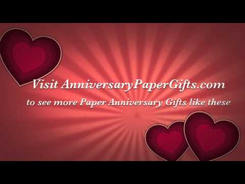 Paper anniversary gift ideas for him youtube