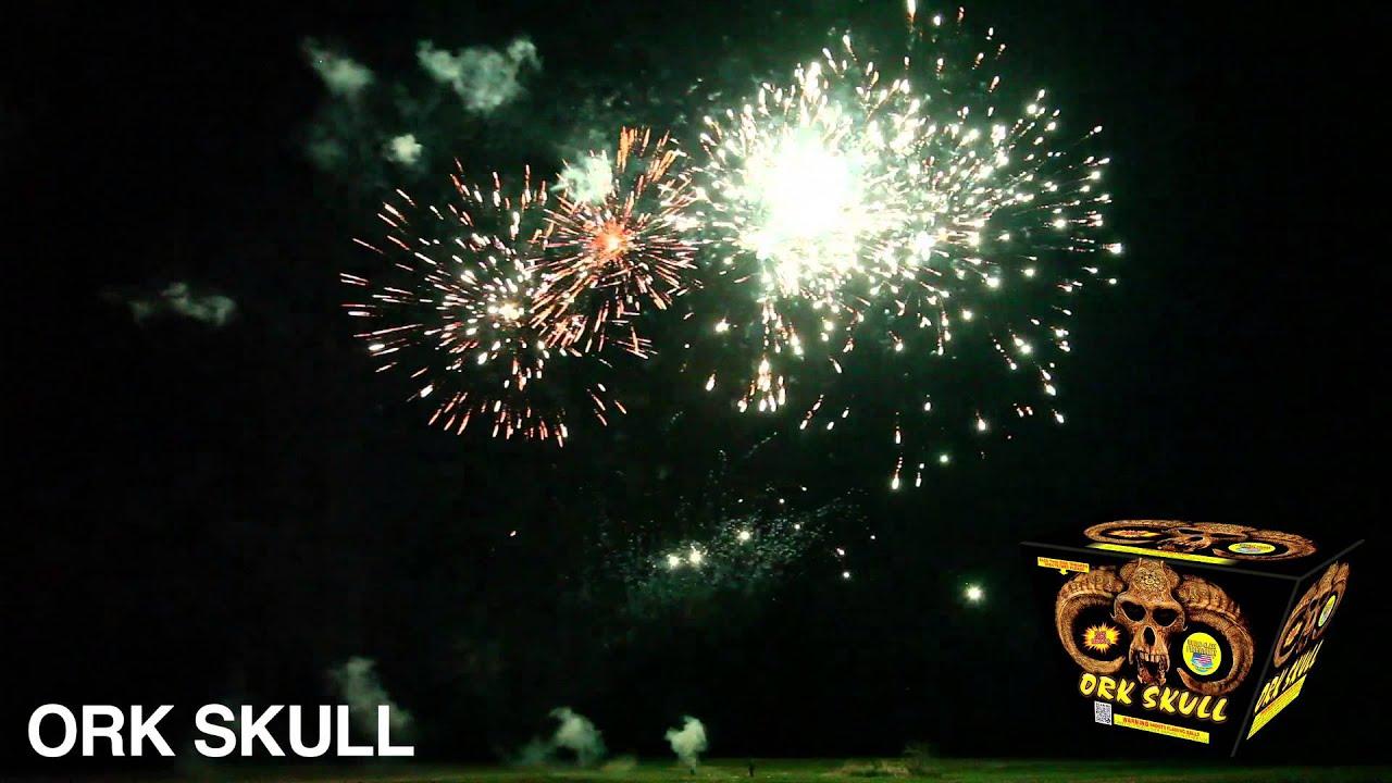 ORK SKULL - 500 GRAM CAKE - WORLD CLASS FIREWORKS - YouTube