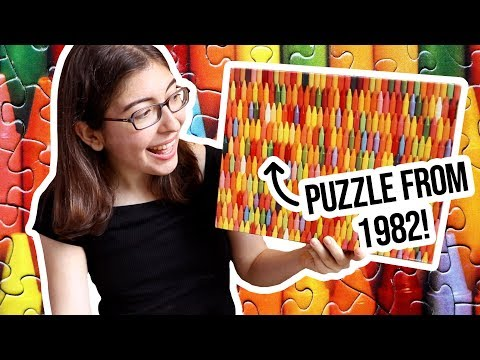 Doing A Vintage Jigsaw Puzzle From The 80s! - Springbok Shades Of Childhood Puzzle