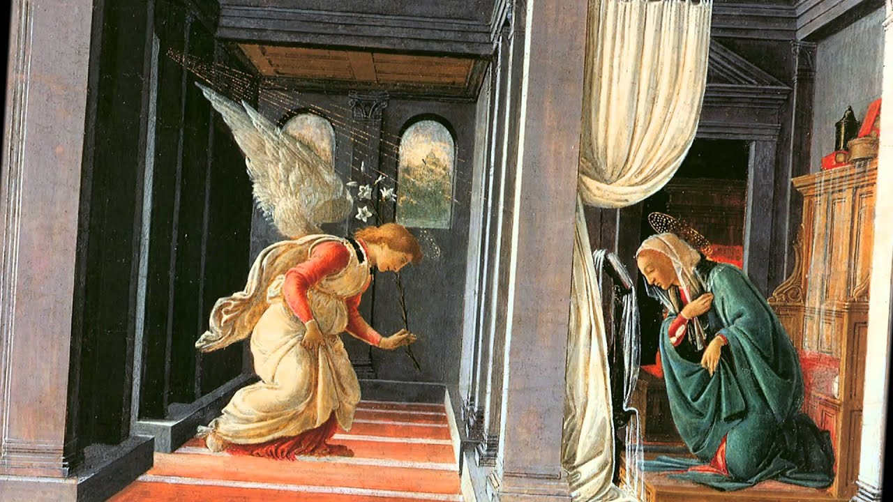 Annunciation thomas schoenberger from the famed uffizi gallery in florence italy