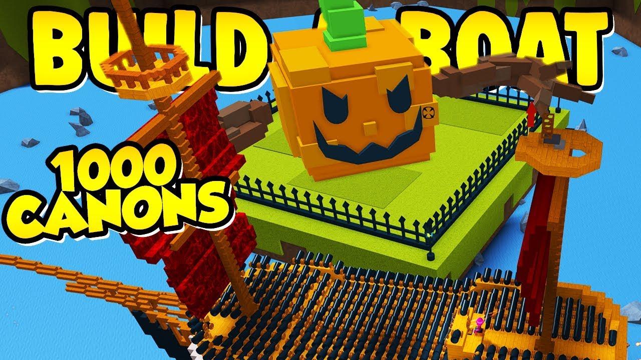 Roblox Build A Boat For Treasure Boss Build A Boat Can You Kill The Pumpkin Boss Youtube