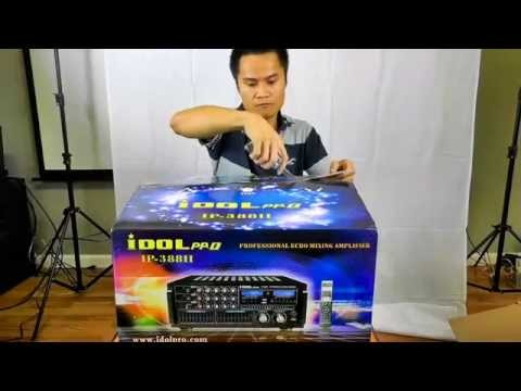 0003 Unboxing Idolpro IP 388 II Professional Karaoke Mixer Amplifier