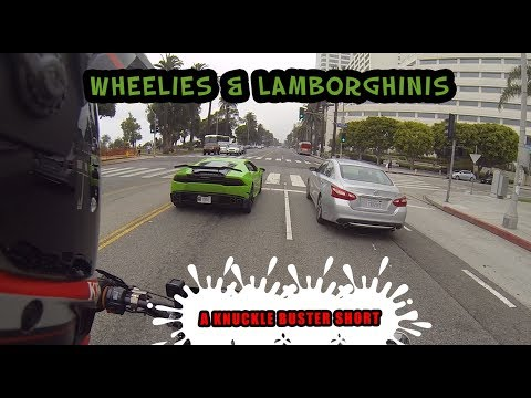 Messing With A Lambo On Santa Monica Drive