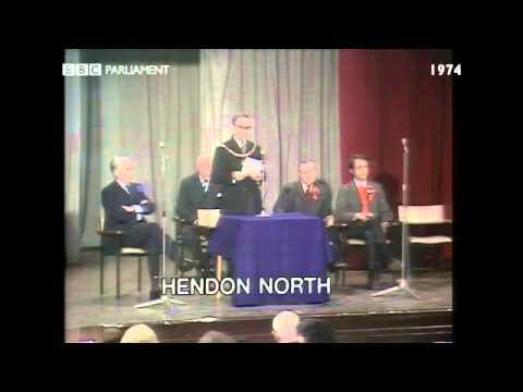 General Election October 1974: Hendon North declaration