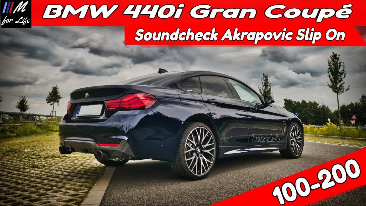 BMW F36 440i Akrapovic Slip On vs OPF ꓲ Lohnt sich die Anlage? Soundcheck n. 9.000 km ꓲ 100-200