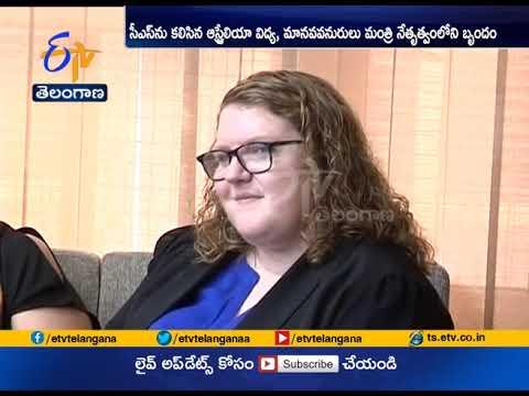 Australia team Calls on CS   Joshi Moots Hyderabad Australia Direct Flights