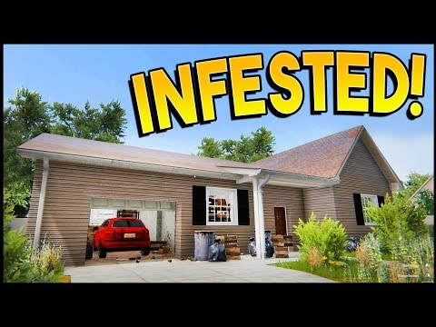 CAN WE FLIP AN INFESTED HOUSE? Squatters, Bugs - House Flipper Gameplay