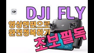 DJI FLY앱 완전정복!! (아무도 알려주지 않는 매빅미니 꿀팁)