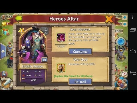 Castle Clash - E10 - Spending 7000 Shards For The Grizzly Reaper Hero