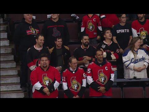 Fans help get anthem started as P.A. system crashes at Senators game