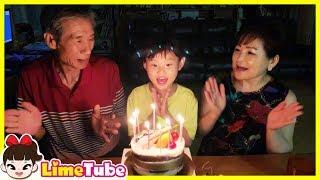 라임의 9번째 생일 축하합니다. 구독자 여러분도 축하해 주세요happy birthday to you | LimeTube toy review