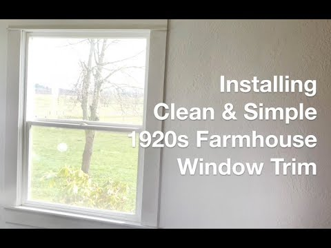 How To Install Simple 1920s Farmhouse Window Trim Anoregoncottage Com Youtube