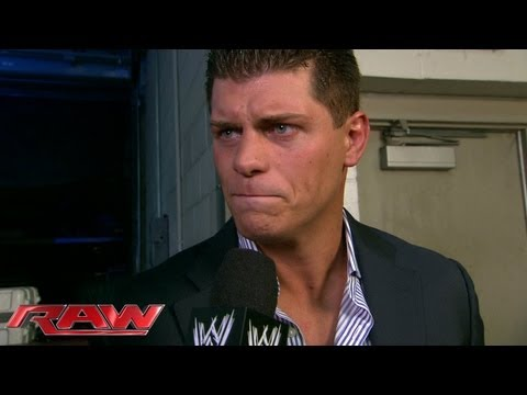 Cody Rhodes reacts to getting fired: Raw, Sept. 2, 2013