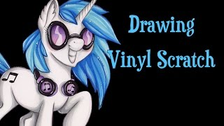 Speed Drawing MLP - Vinyl Scratch/DJ-Pon3