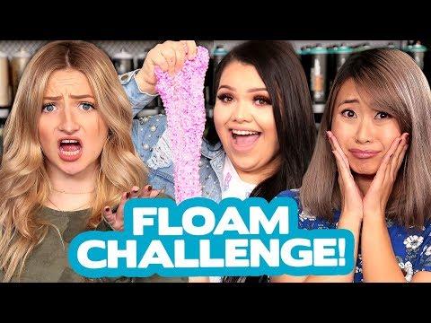 DIY FLOAM SLIME CHALLENGE?! w/ Karina Garcia, Lavendaire & Kalista Elaine!