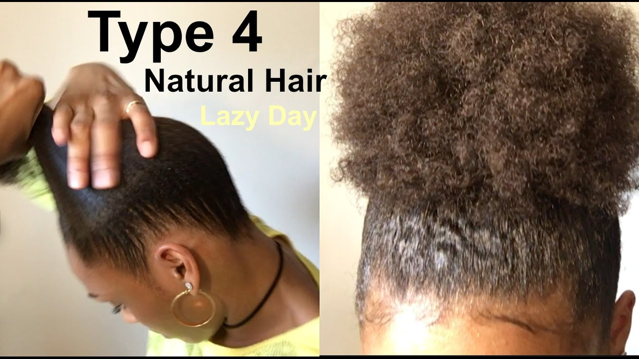 Lazy Hairstyle For Thick Kinky Curly Natural Hair How