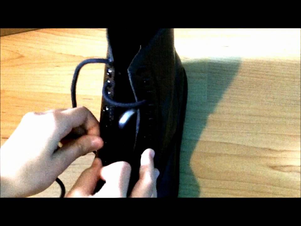 dedcdf3474de How to lace 8 eye Doc Martens - YouTube