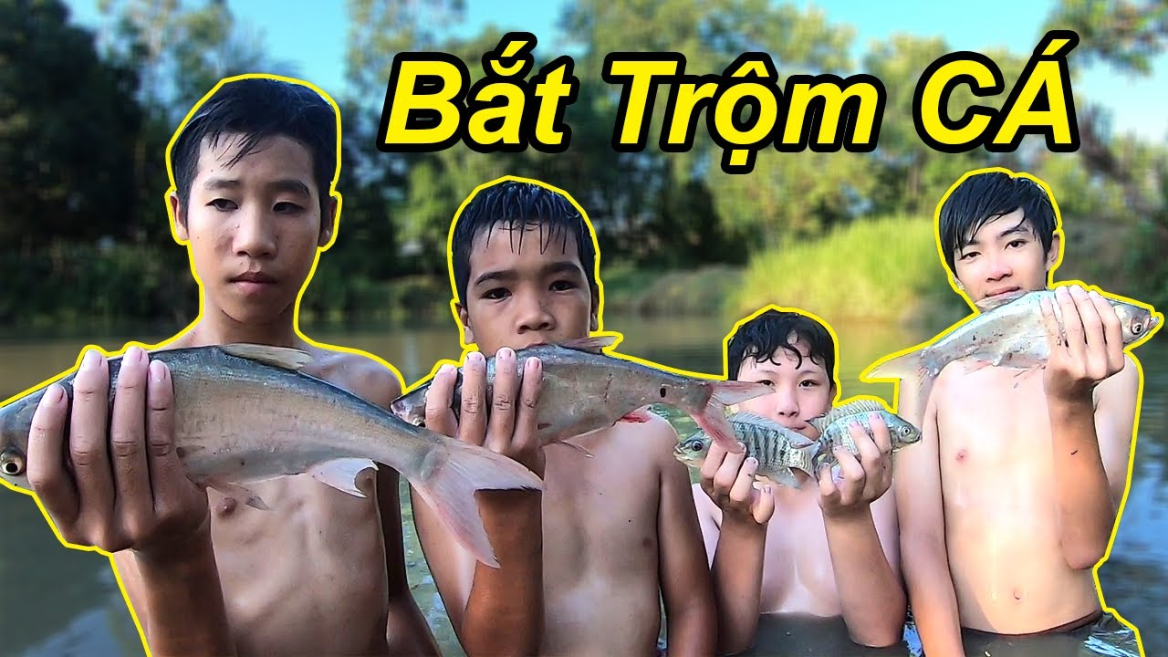 Dẫn Team Trẻ Trâu Đi Bắt Cá Nhà Hàng Xóm | TQ97