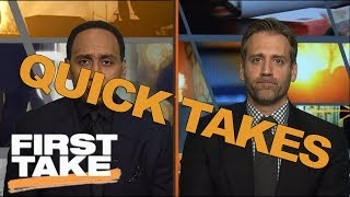 Quick takes on shaq's toe and lonzo ball working out for 76ers   first take   may 26, 2017