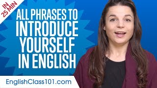 ALL Phrases to Introduce Yourself like a Native English Speaker