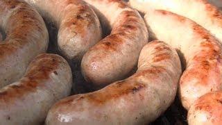 BBQ Bratwurst II homemade German Video Recipe littleGasthaus 100% Sausage