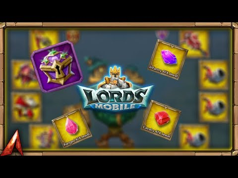 Lords Mobile: Opening Epic Jewel Chests! Gold Attack Jewel!