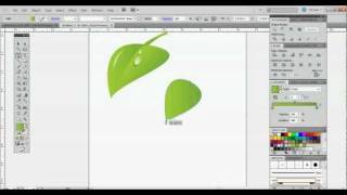 Repeat youtube video How To Draw A Leaf in CS5 Illustrator - Beginner Tutorial - Using the Pen Tool and Gradients