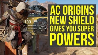 Assassins Creed Origins Best Shield Gives SUPER POWERS AC Origins Best Shield - AC Origins DLC