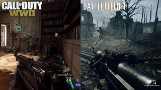 Call Of Duty WW2 Vs Battlefield 1 ( Gameplay & Graphics ) Comparison Which Is Better ?